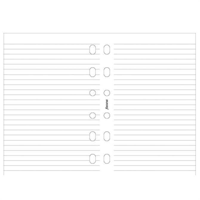 Filofax Pocket Diary 100 Ruled Sheets Refill