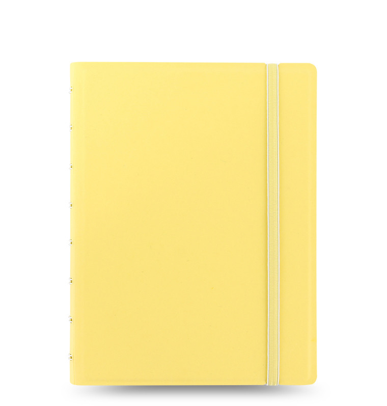 An image of Filofax A5 Classic Pastel Notebook Lemon- 115061 - LEMON