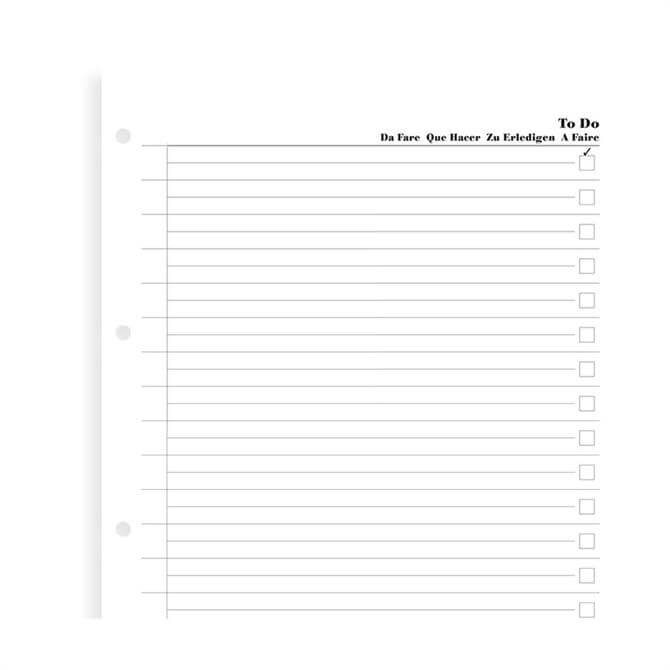 Filofax A5 Diary To Do Pages Refill