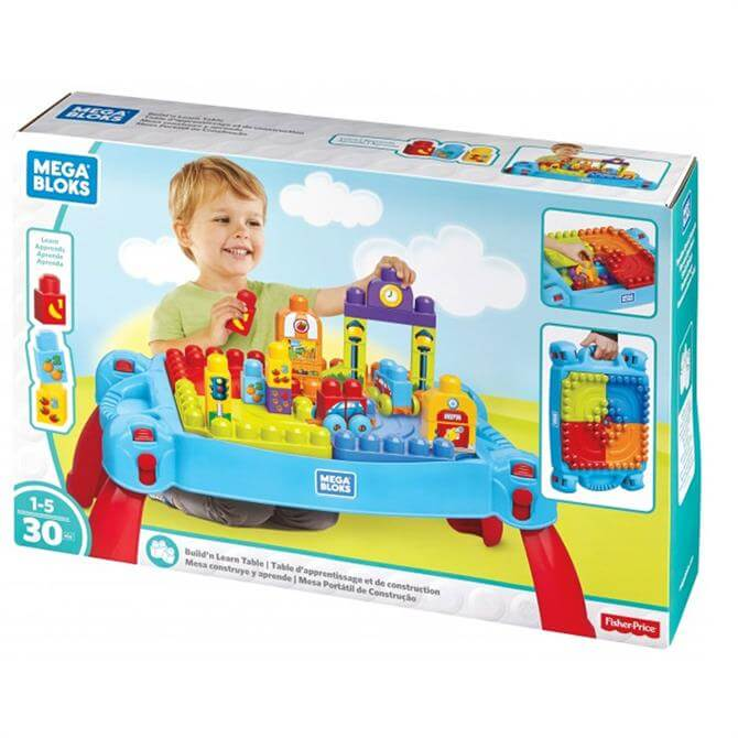 Fisher Price Mega Bloks Building Basics Build 'n Learn Table