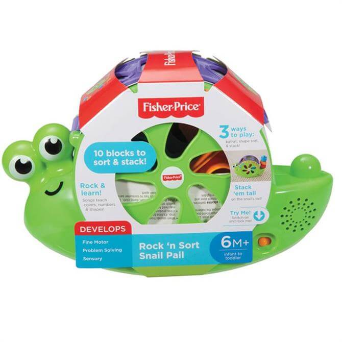 Fisher Price Rock N Sort Snail Pail