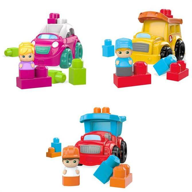 Mattel Mega Bloks Lil Vehicles Mixed Assorted