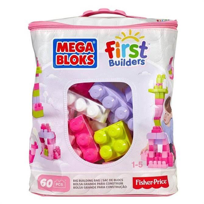 Mega Bloks Big Building Bag 60 Piece Assorted