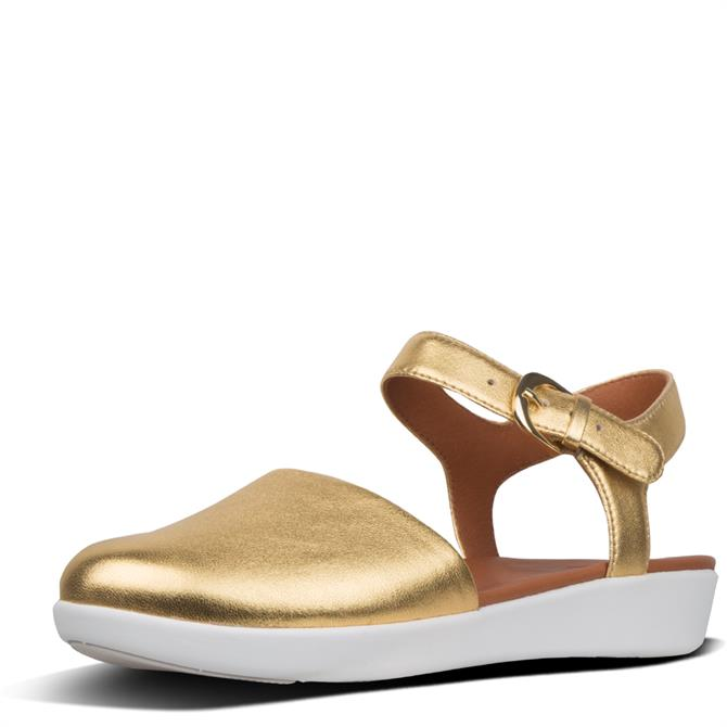 FitFlop™ Cova™ Ii Metallic Leather Closed-Toe Sandals