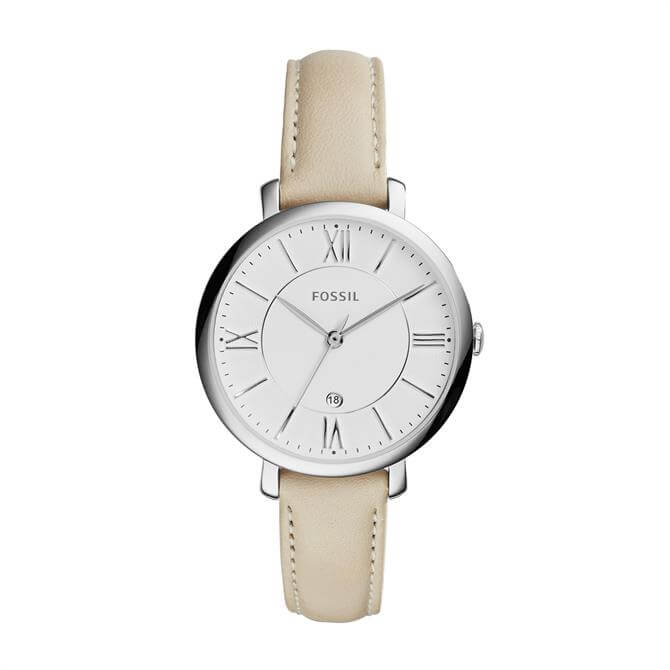Fossil Jacqueline Beige Leather Watch