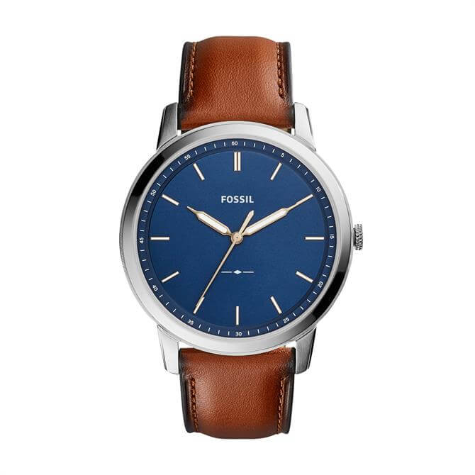 Fossil Minimalist Brown Leather Watch
