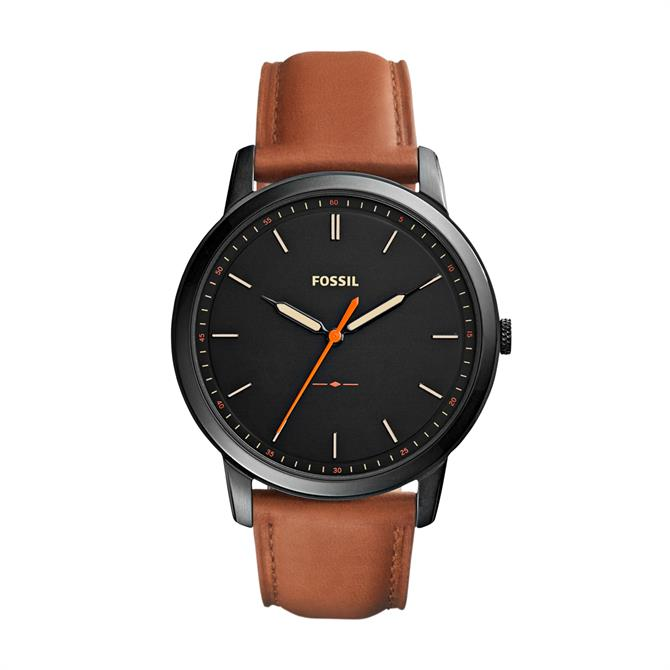 Fossil Minimalist Light Brown Leather Watch