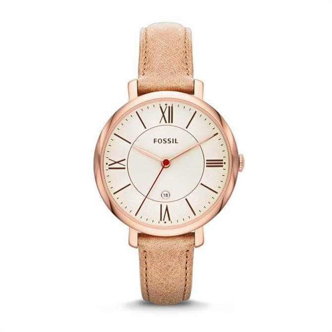 Fossil Jacqueline Sand Leather Watch