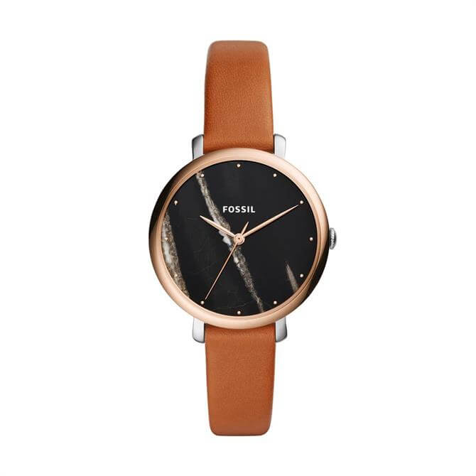 Fossil Jacqueline Three Hand Luggage Leather Watch