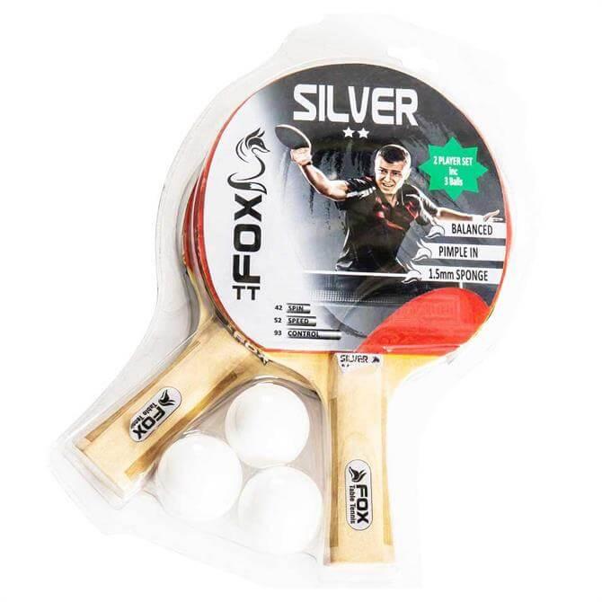 Fox TT Silver 2-Player Table Tennis Set