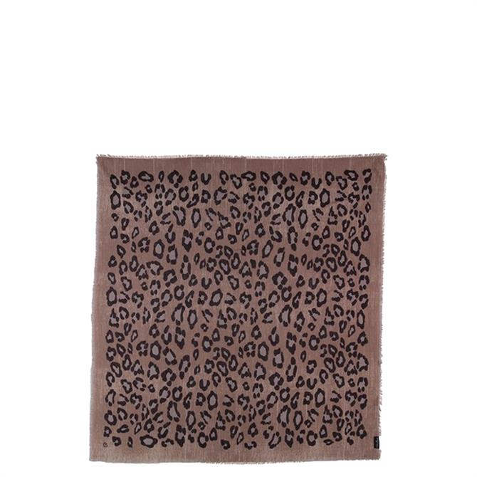 Fraas Animal Print Cotton Square Scarf