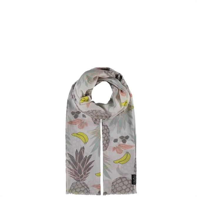 Fraas Tropical Pattern Cotton Ladies Scarf