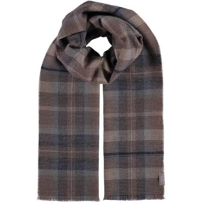 FRAAS Men's Signature Checked Wool Scarf