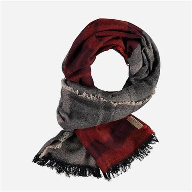 FRAAS Men's Wool-blend Checked Scarf