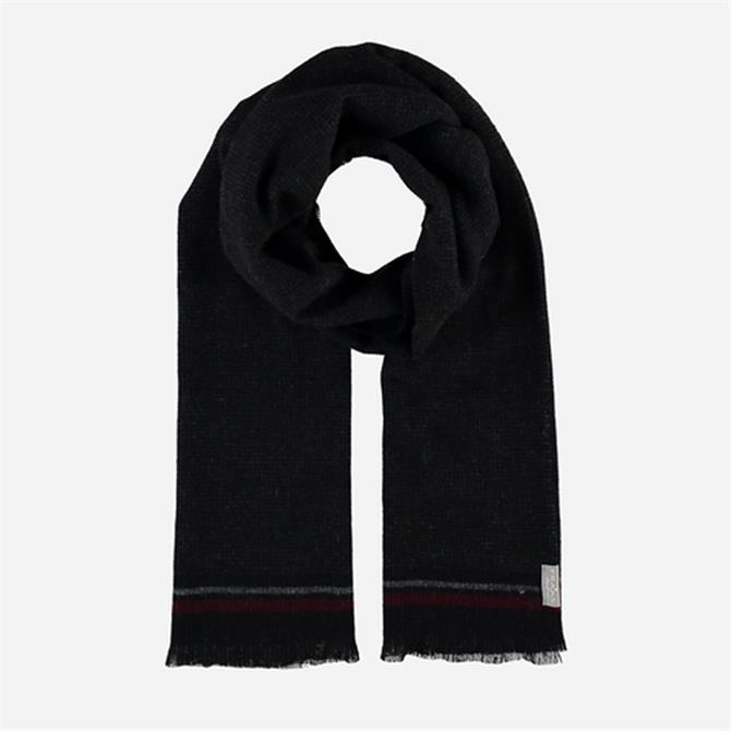 FRAAS Men's Pure Cashmere Two-Tone Weave Scarf