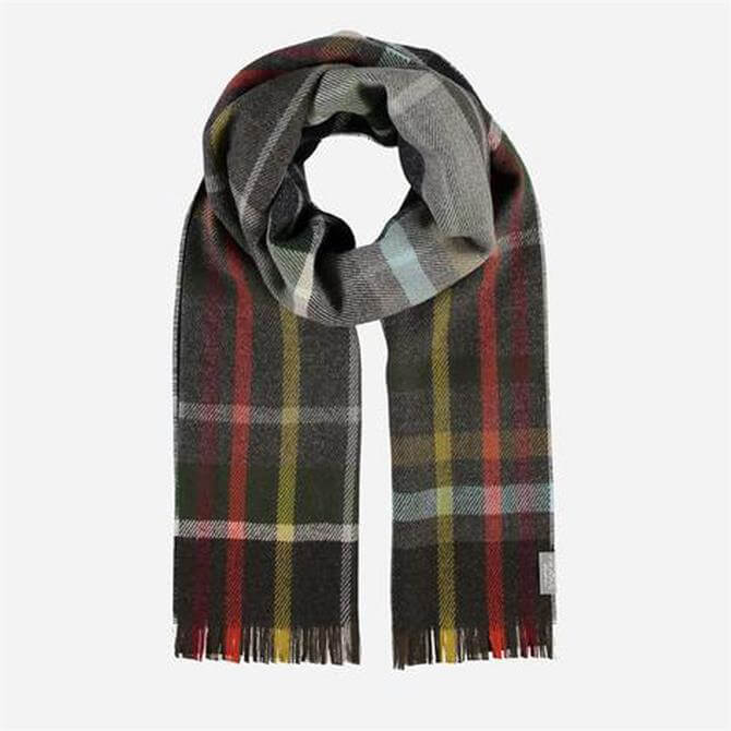 FRAAS Men's Pure Wool Blend Check Scarf