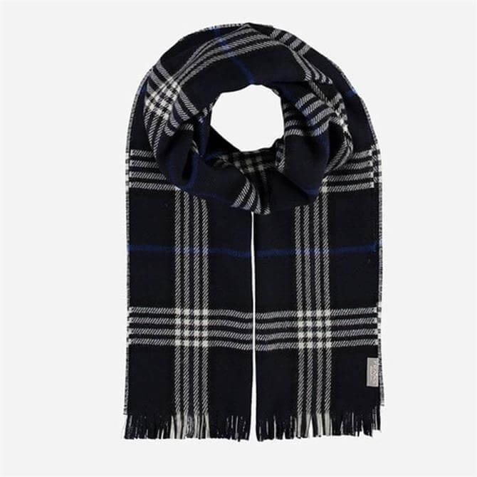 FRAAS Men's Checked Wool Blend Scarf