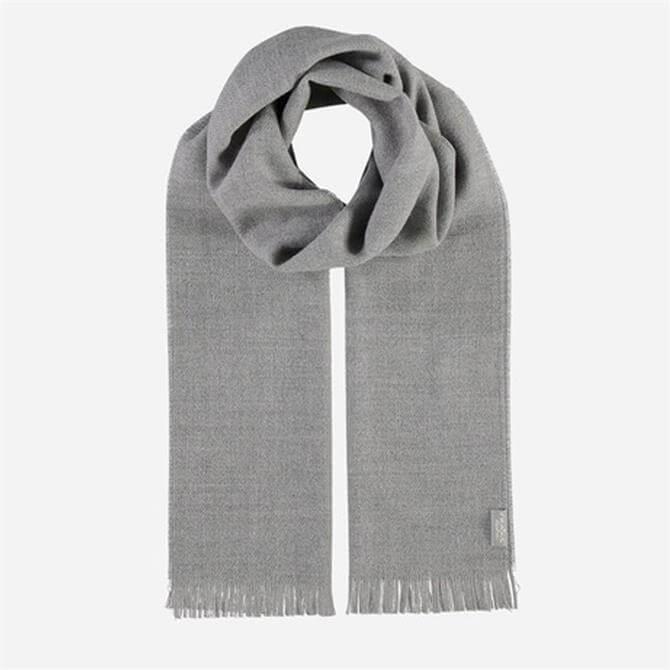 FRAAS Men's Pure Wool Blend Plain Dye Scarf