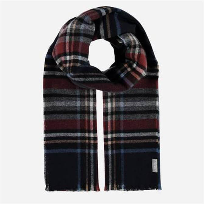 FRAAS Men's Pure Cashmere Check Scarf