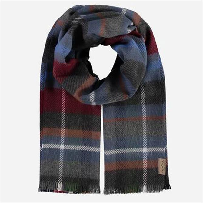 FRAAS Men's Pure Polyacrylic Check Scarf