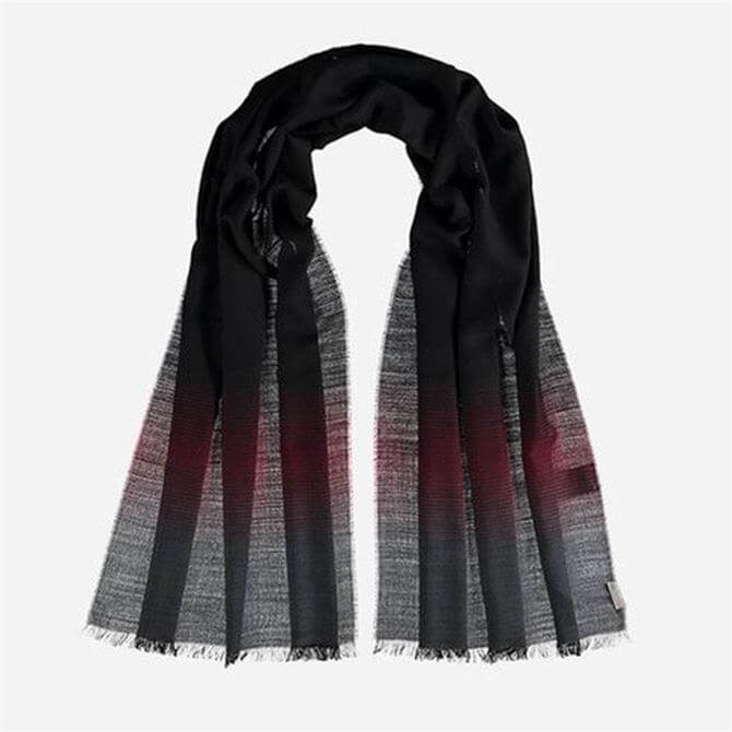 FRAAS Men's Wool Blend Ombre Effect Scarf