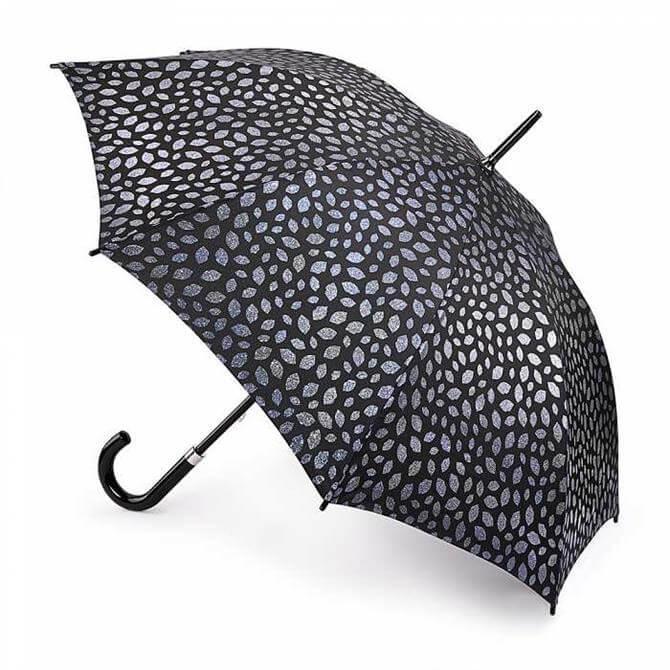 Lulu Guinness by Fulton Pewter Scattered Lip Kensington 2 Umbrella