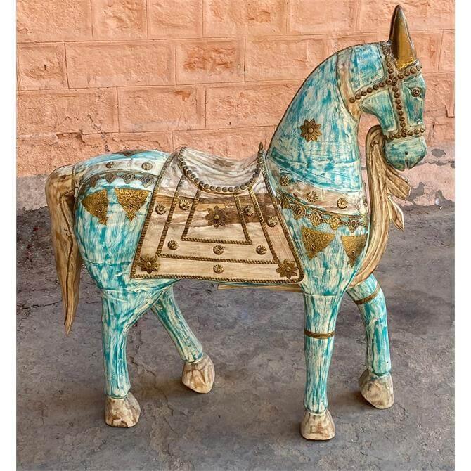 Eastern Inspired Wooden Horse