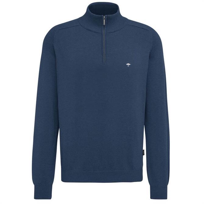 Fynch Hatton Zip Neck Troyer Sweater