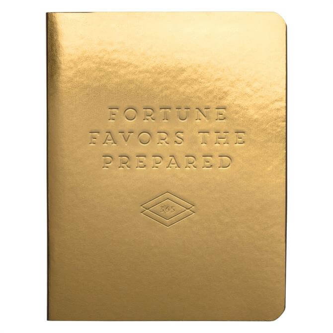 Galison Fortune Favors The Prepared Gold Luxe Pocket Planner