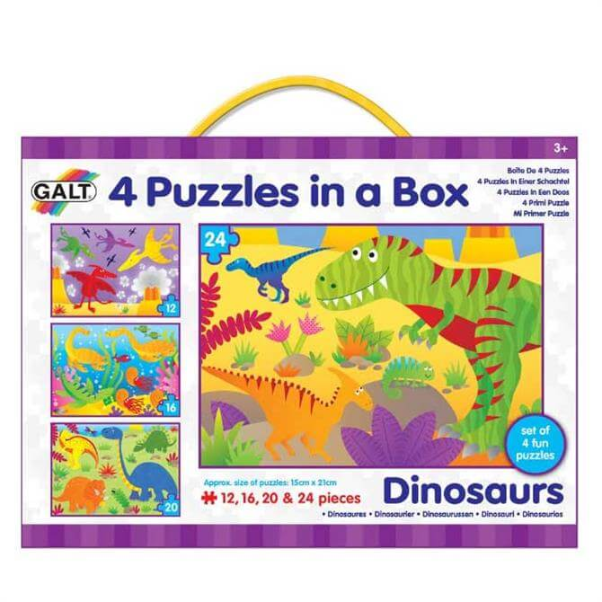 Galt 4-in-a-Box Dinosaur Puzzle