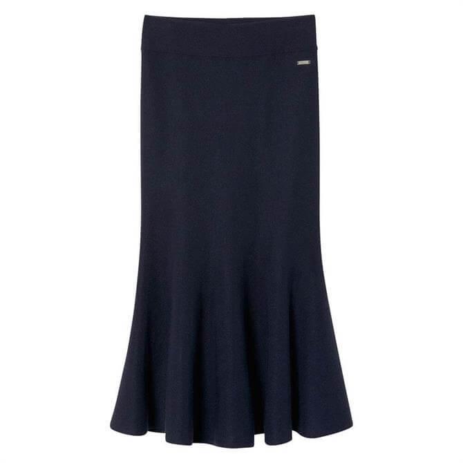 GANT Flared Merino-Blend Midi Skirt