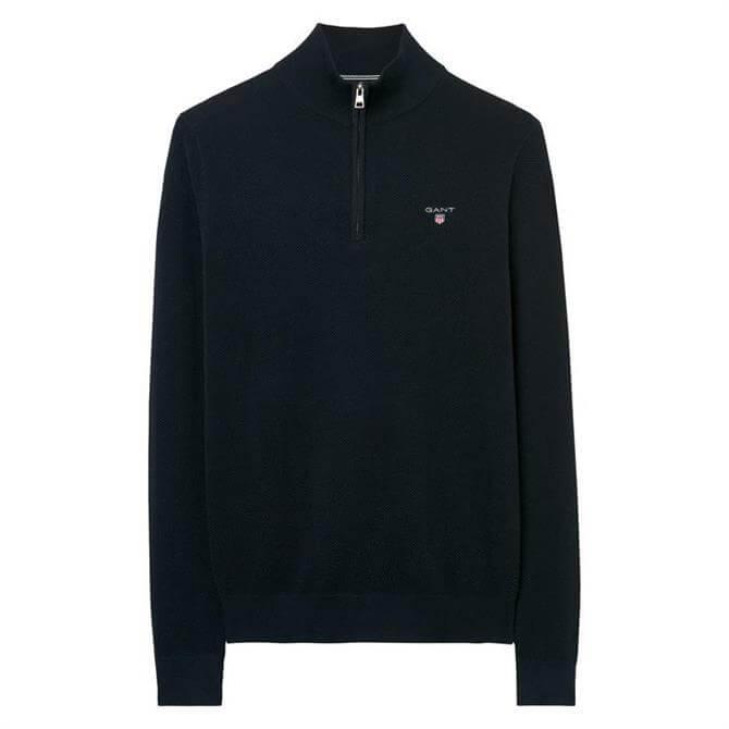 Gant Piqué Half-Zip Sweater
