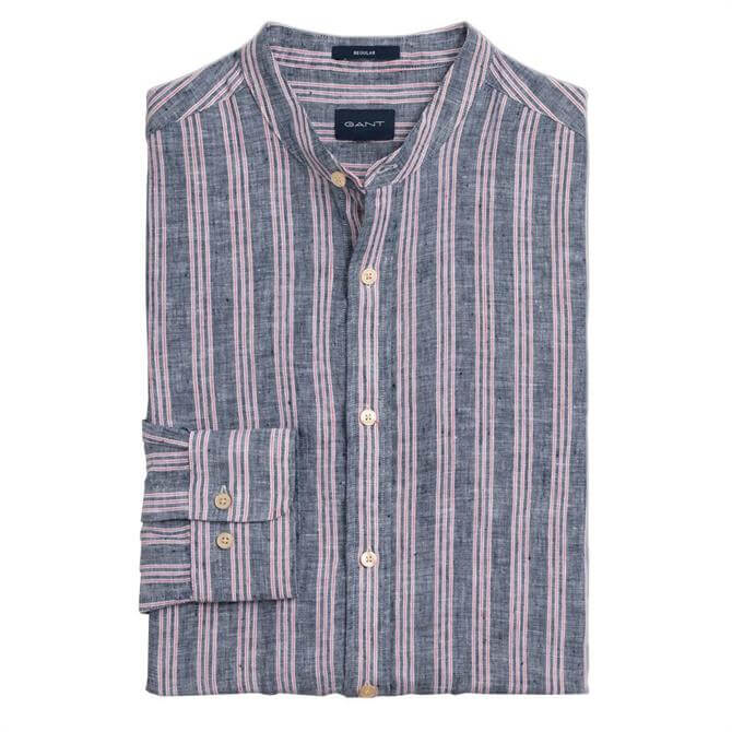 GANT Regular Fit Linen Stripe Shirt