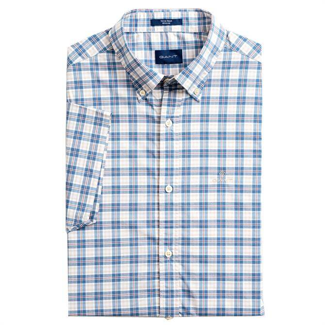 GANT Short Sleeve Tech Prep Broadcloth Plaid Shirt