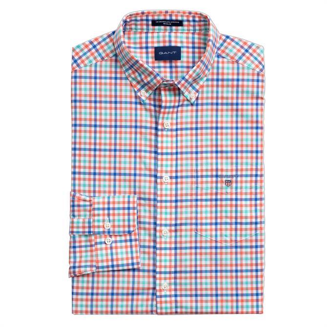 GANT Broadcloth Three-Colour Gingham Shirt