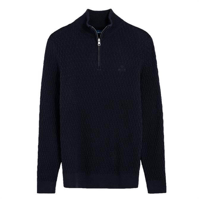 GANT Wheat Texture Half Zip Sweater