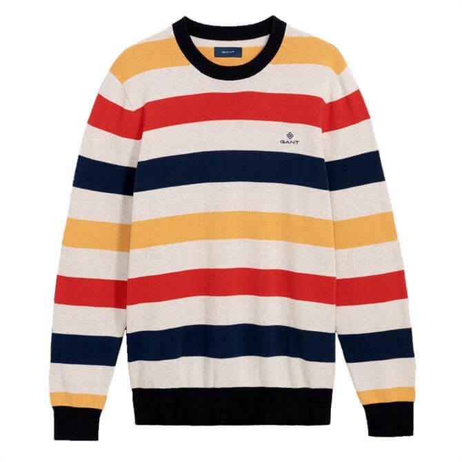 GANT Multicoloured Crew Neck Sweater