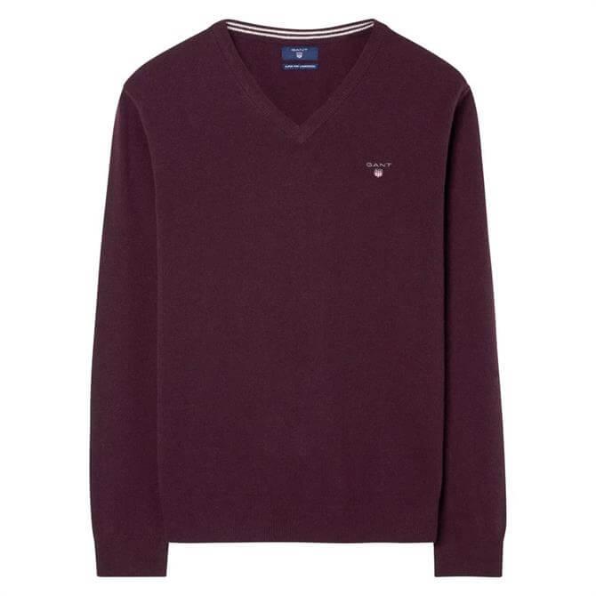GANT Mens V-Neck Lambswool Sweater