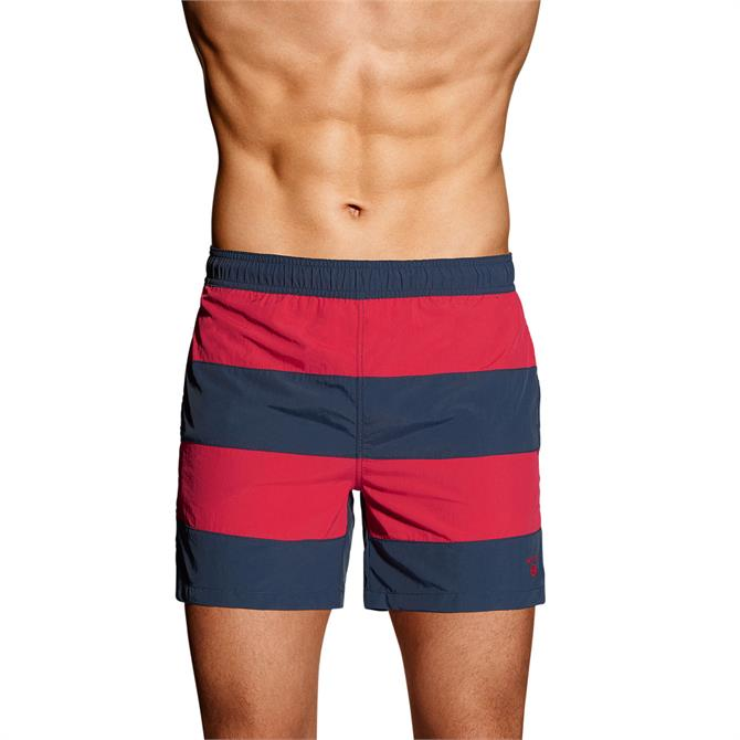 GANT Rugby Stripe Swim Shorts