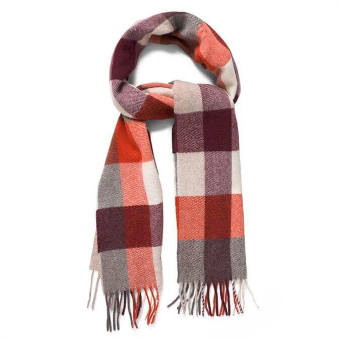 GANT Multicheck Lambswool Knit Scarf