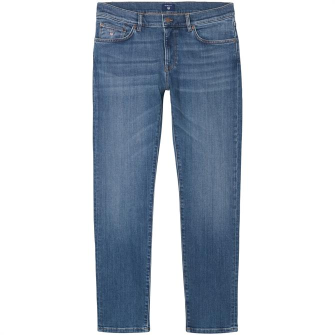 GANT Mens Slim Straight Fit Jeans
