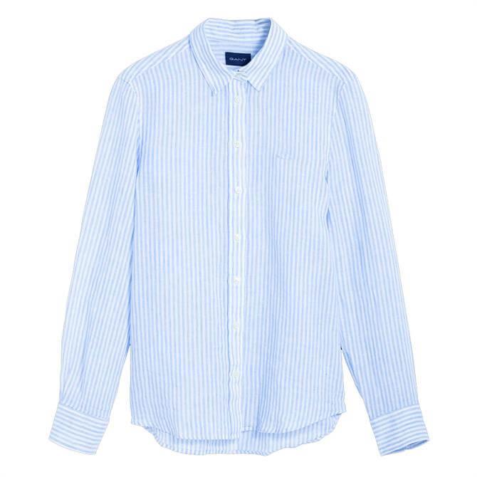 GANT The Linen Chambray Stripe Shirt