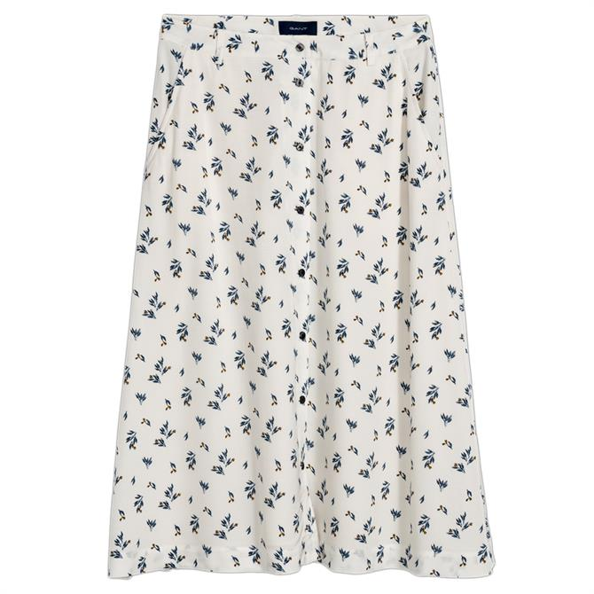 GANT Button-Down Floral A Line Skirt