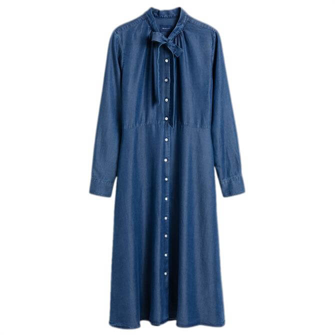 GANT Chambray Bow Shirt Dress