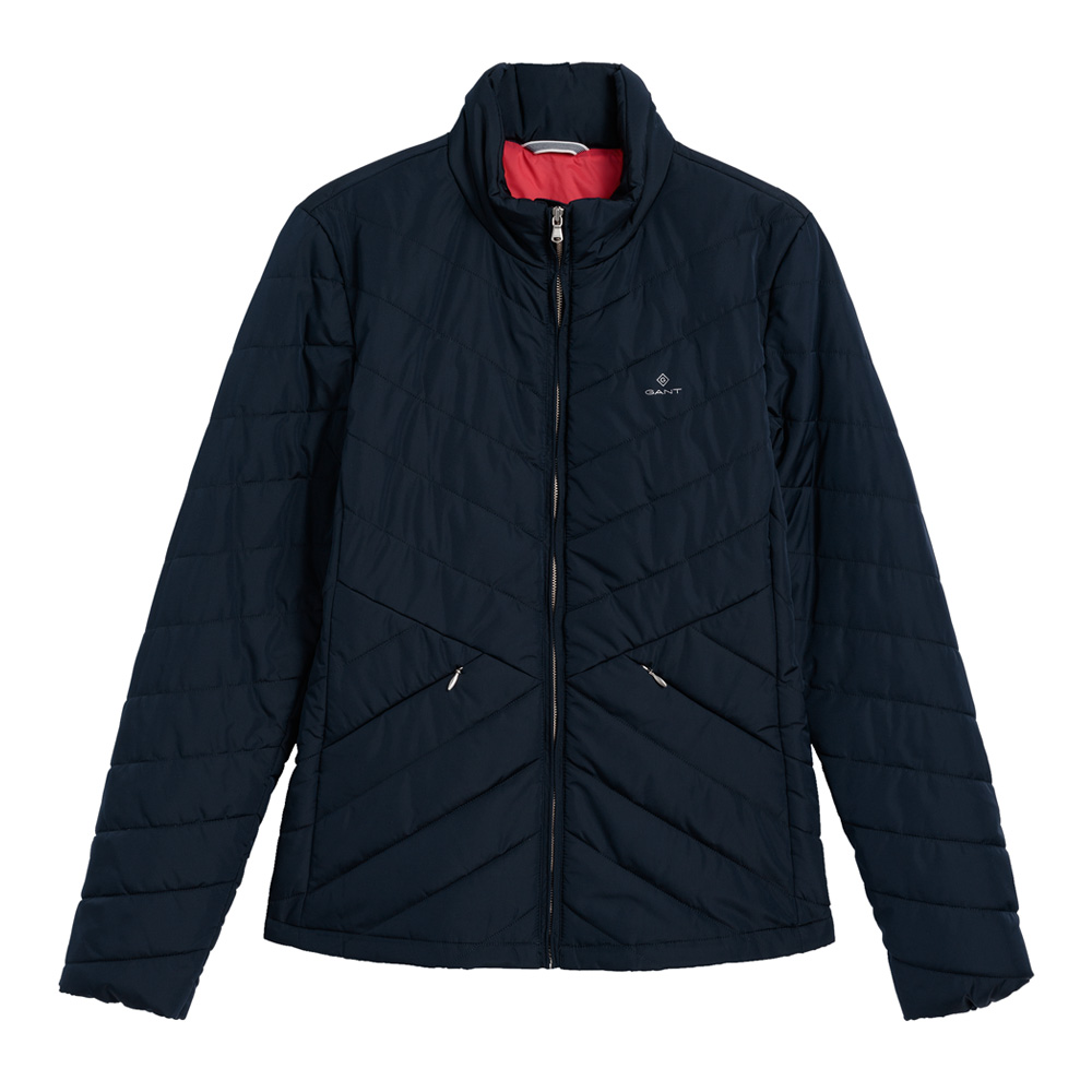 An image of GANT Chevron Quilted Light Down Jacket - XL, MARINE/410