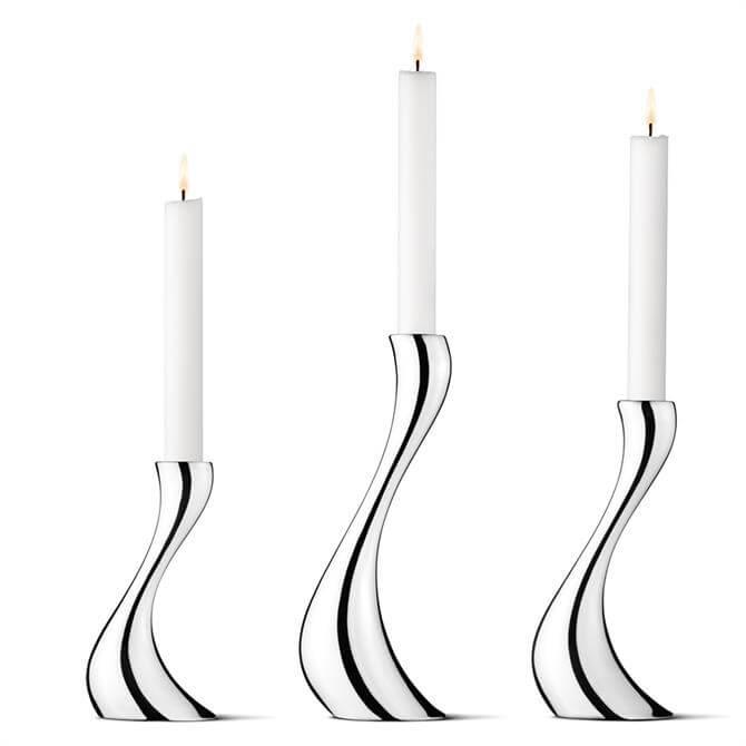 Georg Jensen Cobra Candle Holders - Set of 3