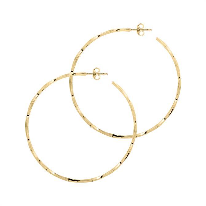 Georgiana Scott La Lago di Como Hoop 3.5cm Earrings