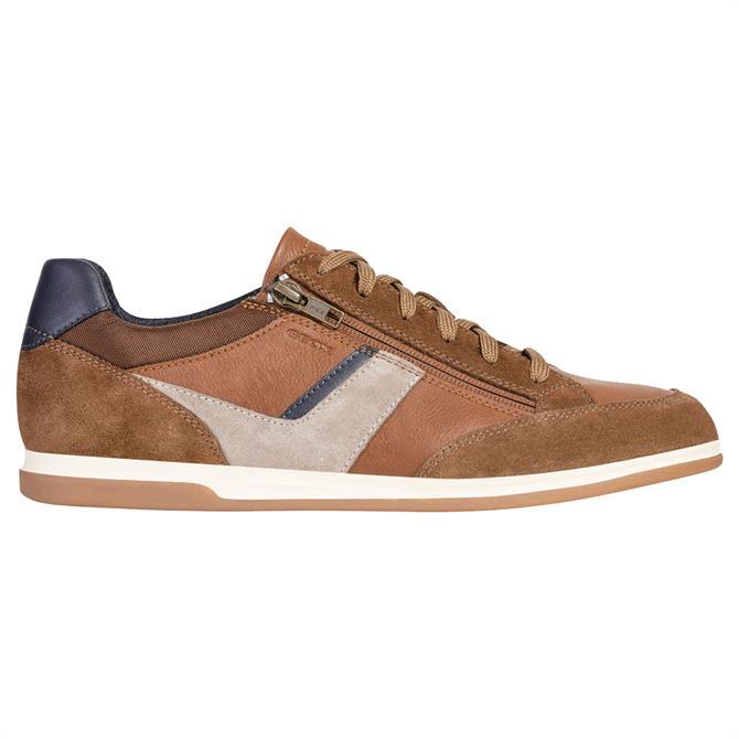Geox Mens Renan Sneaker - Brown/Navy