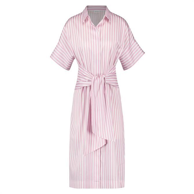 Gerry Weber Tie Belt Striped Shirt Dress