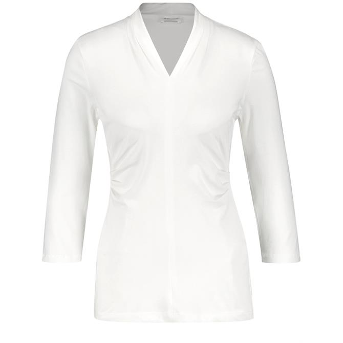 Gerry Weber 3/4 Length Sleeve Top with Pleated Detail